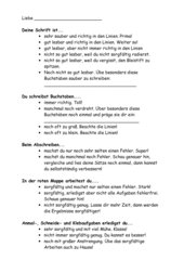 Ankreuz-Rückmeldung schriftl.Leistungen