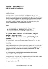 Einführungsinfos Holzwerken - Schlittenbau