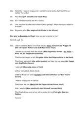 Geschichte zur Einführung der Vokabeln Wetter Klasse 1
