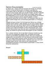 Lesespiel  Namen-Kreuzwortgitter