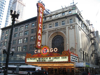 Chicago Theater - Gebäude, Sehenswürdigkeiten, USA, Chicago, Leuchtreklame