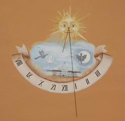 Sonnenuhr - Sonnenuhr, Uhr, Uhrzeit, Sonne, Zeit, Zeitmessung, Zeitangabe, Wetter, Licht, Schatten, Physik, Optik, römische Zahlen