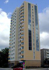 Hochhaus als Plattenbau - Architektur, Plattenbauweise, Plattenbau, Hochhaus, Rekonstruktion, Sanierung, Potsdam, Betonfertigplatten