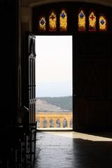 Blick aus der Kirche - Blick ins Helle, Kirche, Galiläa, Nazareth, Schreibanlass, Meditation