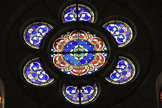 Kirchenfenster - Kirchenfenster, Fensterrose, Gotik, Nazareth, Basilika, Fenster, Glaskunst, Kreis, Rosette