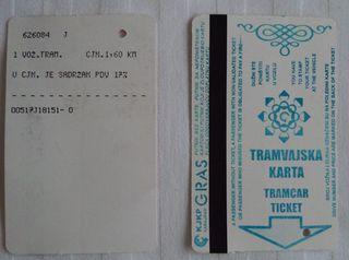 Tramfahrschein 01 - serbisch/bosnisch - Fahrschein, serbisch, bosnisch