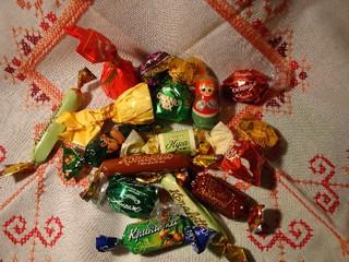 russisches Konfekt - Russland, Süßigkeiten, Bonbons, Pralinen, Speisen