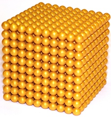 Tausenderwürfel - goldene Perlen, Würfel, goldenes Perlenmaterial, Montessori, Kubik, Kubus, Volumen, Tausend, Rauminhalt