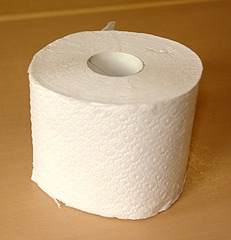 Toilettenpapier - Toilettenpapier, Klopapier, Zylinder, Hohlzylinder, Klorolle, Papierrolle, WC-Papier, Zellstoff, Rolle