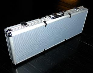 Koffer - Koffer, Aluminiumkoffer, Aluminium, silber, Quader, Prisma, Metall