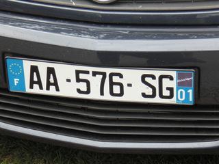 Autokennzeichen neu - Frankreich, civilisation, voiture, plaque d'immatriculation, Autokennzeichen