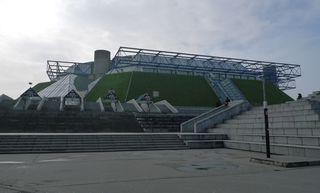 Paris_Bercy   Palais Omnisports_01 - Paris, Sporthalle, Bercy, omnisports