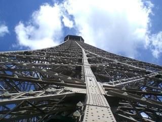 La Tour Eiffel - Paris, Eiffelturm, Tour Eiffel, Wahrzeichen, Perspektive, Verstrebung, Konstruktion, Kunst
