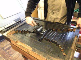 Presse#1 - Presse, Buchdruck, Druck, Druckerei, Grafik, Buch, schwarz, Druckerfarbe