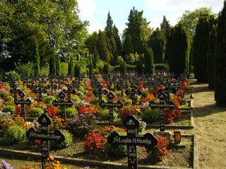 Klosterfriedhof - Friedhof, Ruhestätte, Grab, Allerheiligen, Allerseelen, Kreuz, Grabschmuck
