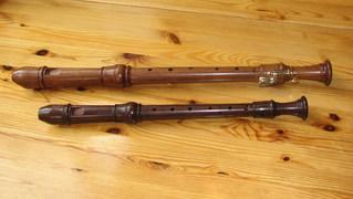 Blockflöten Alt (f) und Tenor (c) - Blockflöte, Altblockföte, Tenorblockflöte, barocke Griffweise, Holzblasinstrument, Holzblasinstrumente, Flöte, Flöten