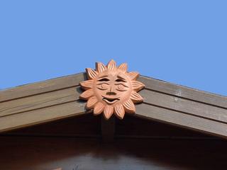 Sonne - Sonne, Ton, Dekoration, Relief, tonen, töpfern, gestalten, plastisches Gestalten, Keramik