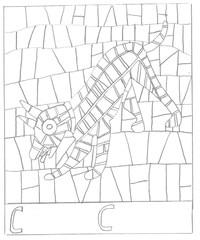 Fußbodenmosaik: Cave Canem - Hund, Mosaik, Fußbodenmosaik, Römer, Pompeji, malen, ausmalen, Geschichte
