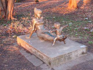 Skulptur Geschwister - Geschwister, Skulptur, Kinder, Metall, Bronze, Berlin, Plastik