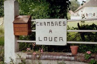 Französische Schilder #5 - Schild, Zimmer, Chambre, louer