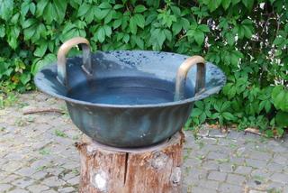 Wasserschüssel - Schüssel, blau, Wasser, Regenwasser