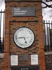 24-Stunden Uhr Greenwich - Greenwich, London, 24-Stunden-Uhr, Royal Observatory, Shepherd Gate Clock, 24-hour-clock