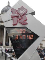 Noch 493 Tage - London, Uhr, Trafalgar Square, Olympische Spiele, Eröffnung