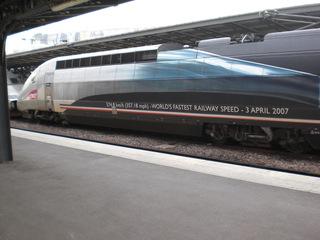 TGV 574,8 km/h - Frankreich, Landeskunde, TGV, Gare de l'Est, Geschwindigkeitsrekord, Hochgeschwindigkeitszug