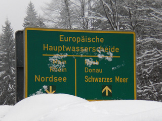 Europäische Hauptwasserscheide 2 - Wasserscheide, Hauptwasserscheide, Naab, Donau, Schwarzes Meer, Main, Rhein, Nordsee, Landschaftskomponente, Wasser, Naturraum