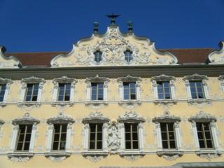 Falkenhaus Würzburg - Falkenhaus, Haus zum Falken, Würzburg, Rokoko, Fassade, Rokokofassade