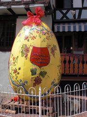 Oeuf de Pâques à Riquewihr - Pâques, Ostern, Elsass, Riquewihr