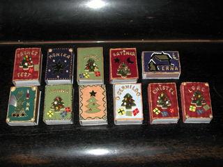 Weihnachtsschachteln - Weihnachten, Geschenk, Basteln, Schachteln, Streichholzschachteln
