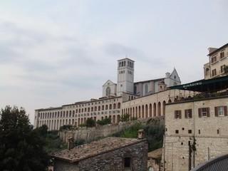 Basilika San Francesco in Assisi - Assisi, Italien, Kirche, Heiliger Franziskus, Basilika, Pilger, romanisch, gotisch, Architektur