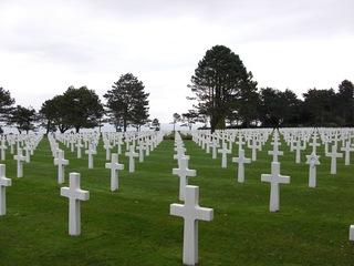 Soldatenfriedhof - Soldatenfriedhof, Normandie, Frankreich, D-Day, Landung der Alliierten, zweiter Weltkrieg