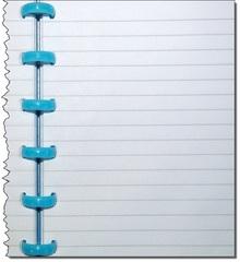 Ringbuch_liniert_rechtes Blatt - Schule, Büro, Heft, Ringbuch, schreiben, liniert