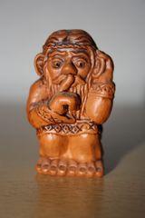 kleine russische Bauernfigur #1 - Ton, Keramik, Russland, Souvenir, Kunsthandwerk, Bauer