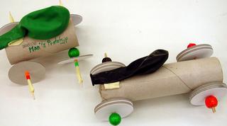 Luftauto Prototyp 1 - Eggrace, Auto, Autos, Luft, Basteln, Bauen, Wind, Physik