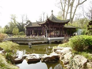 Chines. Garten Pavillion - Chinesischer Garten, Pavillion, Architektur