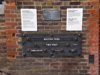 britische Standardmaße - Greenwich, Standardmaße, standard lengths, Royal Observatory, foot, yard, inch, Mathematik, Einheit