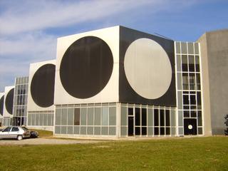 Fondation Vasarely - Frankreich, civilisation, Aix-en-Provence, fondation, Vasarely, Kunstmuseum, Kreis, Quadrat, Körper, Quader