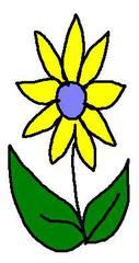 Streublume gelb - Blume, gelb, clipart