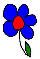 Streublume blau - Blume, blau, clipart