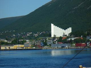 Eismeerkathedrale - Eismeerkathedrale, Norwegen, Tromsö, Fjord, Wälder, Berge, Meer, Kirche