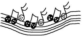 Fröhliche Noten - Noten, clipart, Musik