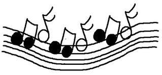 Fliegende Noten #schwarz - Noten, clipart, Musik