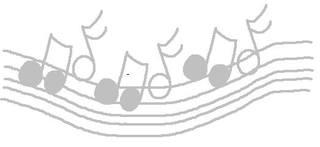 Fliegende Noten #grau - Noten, grau, clipart, Musik