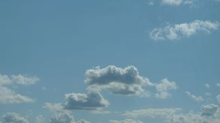 Wolkenformation - Himmel, Wolken, Wetter, Cumulus, Cumuluswolken, weiß, blau, Schönwetter, Sommer, Meditation