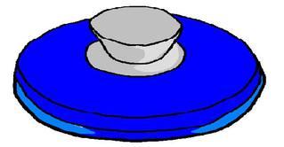 Deckel #2 - Deckel, Topfdeckel, blau, Singular, Einzahl, Wörter mit ck