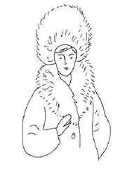 Dame mit Pelz #1 - Dame, Frau, Pelz, Mütze, Kragen, Lautbildung, Einzahl, Singular, Mensch