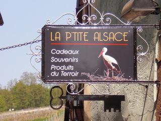 La p'tite Alsace - Frankreich, civilisation, Alsace, Elsass, Laden, magasin, Storch, cigogne